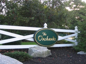 The Orchards - landscape - Entrance sign